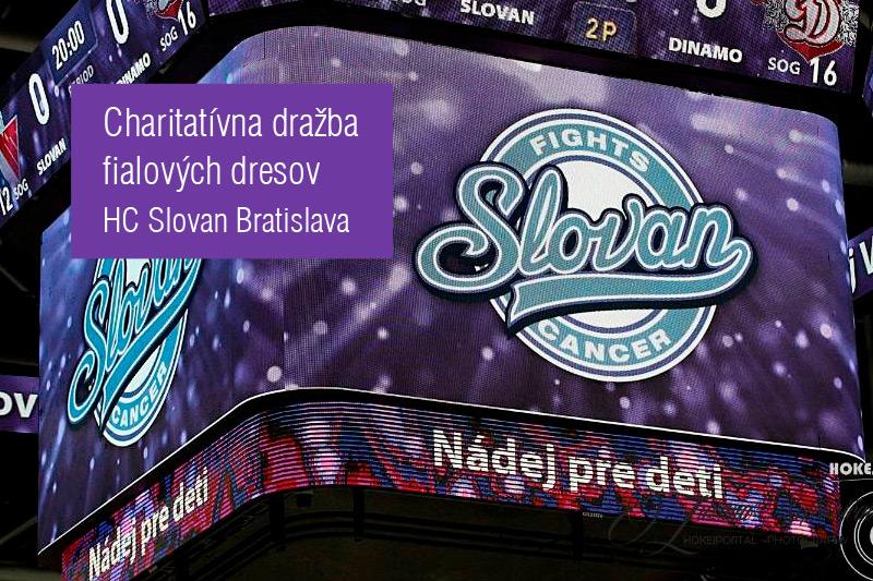 71238389cb4 Víťazné fialové dresy Slovana v dražbe